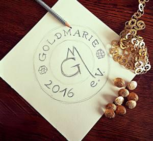 Entwurf des Logos der KG Goldmarie 2016 e.V.