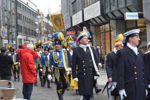 Stattgarde Ahoi und Treuer Husar beim Einzug in die Hofburg