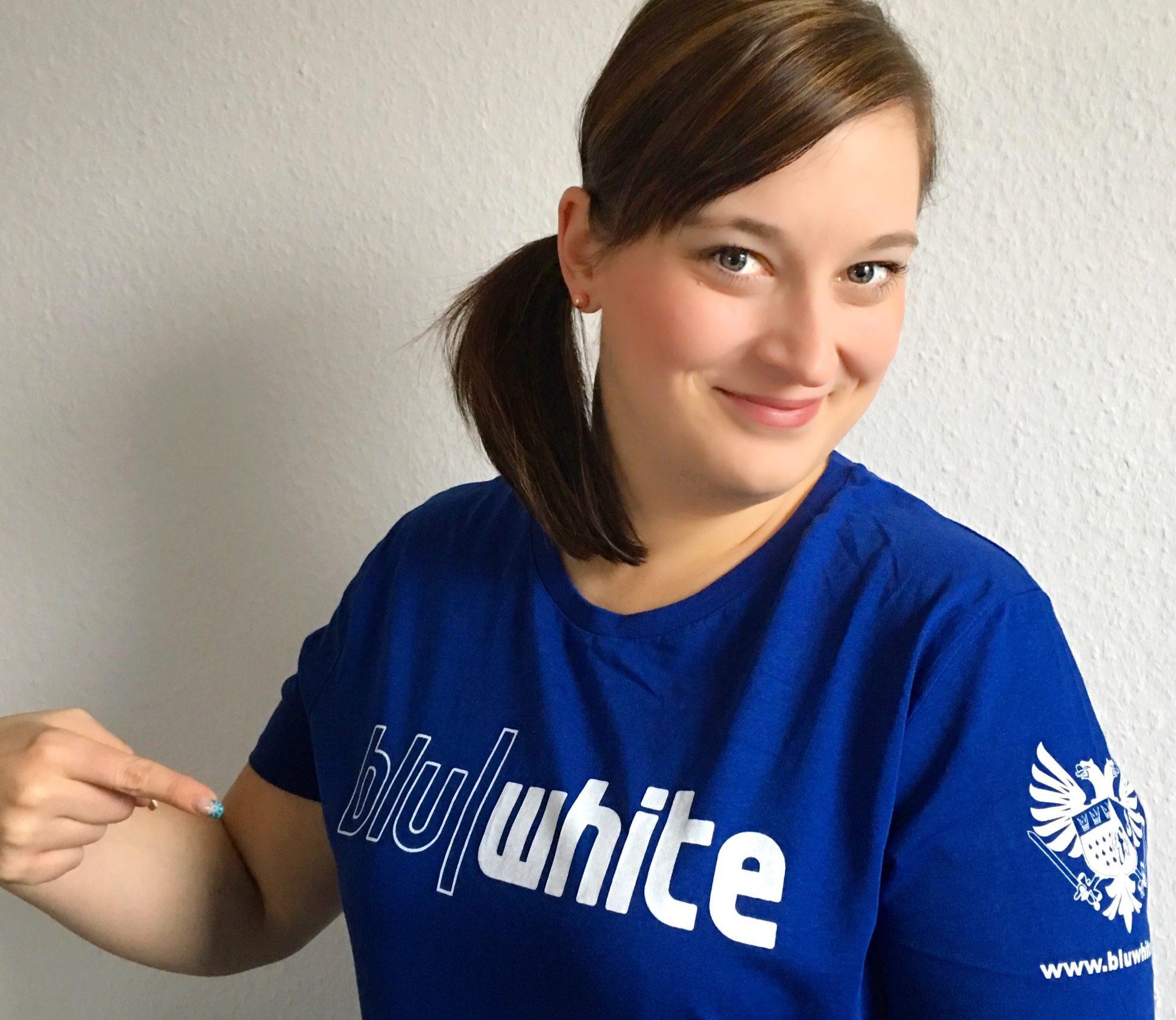 Liebe Sarah BluWihte Shirt