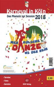Titel des Kölner Karnevalsterminkalender der Session 2018 mit der Sessionsmarke Mer Kölsche ganze us der Reih