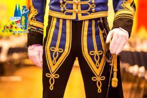 Uniform der KG Treuer Husar Blau-Gelb