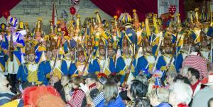 Kölner Husar-Korps Sitzung för ärm Lück Bürgergarde Blau-Gold