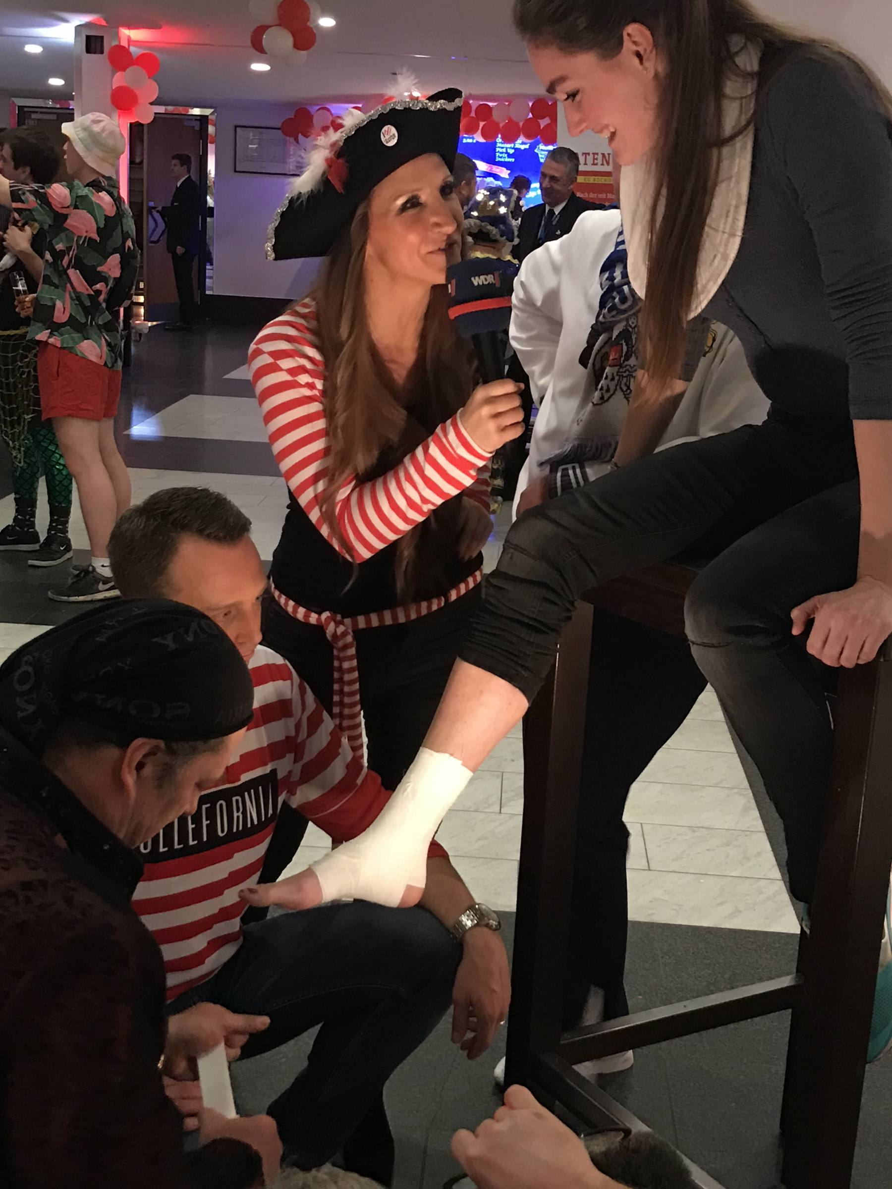 Taping bei einer verletzten Tänzerin