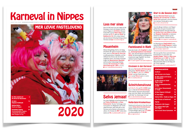 Karneval in Nippes Zeitung 2020
